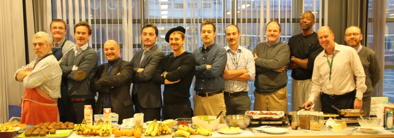 Movember breakfast team